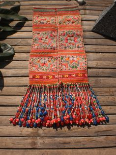 Embroided Textile Tribal Panel By The Hmong by KulshiMumkin