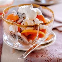 Papaya and dragon fruit salad Recipe | delicious. Magazine free recipes