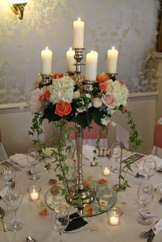 Fabulous Baroque Candelabra Hydrangeas, Roses, Peonies and Sweet Peas
