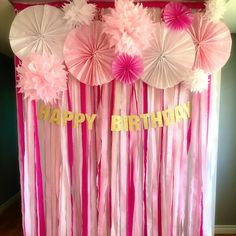 Nathalie Gauthier added a photo of their purchase Unicorn Themed Birthday Party, Gold Birthday Party, Birthday Party For Teens, Mermaid Birthday, Birthday Streamers, Paper Streamers, Paper Flower Backdrop, Diy Birthday Decorations, Baby Shower Decorations