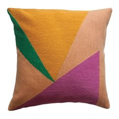 Modern Renzo Triangles Hand Embroidered Geometric Throw Pillow Cover (6.910 RUB) ❤ liked on Polyvore featuring home, bed & bath, bedding, orange, embroidered bedding, geometric bedding, modern geometric bedding, orange bedding and modern bed linen