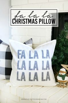Spruce up your holiday decor with this easy-to-make DIY Fa La La Christmas Pillow. Make it in under an hour with the help of your Cricut Maker! Christmas Vinyl, Christmas Pillow, All Things Christmas, Christmas Holidays, Christmas Crafts, Christmas Decorations, Holiday Decor, Christmas Ideas, Elegant Christmas