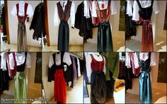 """The dirndl in Tyrol is a female dress copied from the Trachten, consisting of a top (Austrian: """"Leibl"""") and blouse, wide skirt and a colorful apron. Originally, the dirndl was the working dress of female servants (Austrian """"dirn"""": maid, maidservant); hence the term """"dirndl"""" as an abbreviation of """"Dirndlgewand"""" (maid's dress)."""