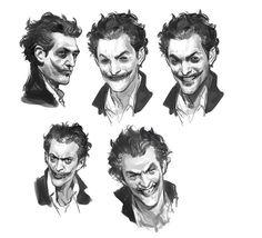 Wesley Burt has unveiled some new concept art made for the Joker for Batman: Arkham Origins Joker Kunst, Batman Kunst, Batman Poster, Batman Art, Batman Robin, Joker Batman, Gotham Batman, Comic Books Art, Comic Art