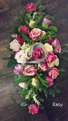 Funeral Flowers, December 25, Fall Flowers, Floral Arrangements, Centerpieces, Floral Wreath, Wreaths, Entertaining, Wedding