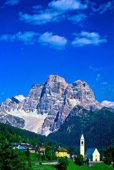 Selva di Cadore (Monte Pelmo in background), Dolomites, Northern Italy, province of Belluno Veneto