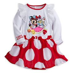 Minnie Maus Set mit Body und Rock