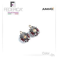 Earrings MARTA 1 Rhinestone and crystal clip earrings. Smoke/ruby.  2,600.00 Ksh http://www.federicafashion.com/ep173/earrings-marta-1/ http://www.jumia.co.ke/federica-fashion/