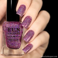 Paint your nails with this magenta and purple holographic nail polish in a clear base for a more shimmering look. This polish can be worn alone in 2-3 coats or top it with any color. Collection: Simpl