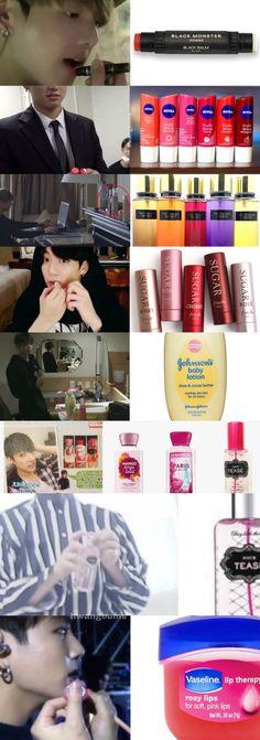 Only things I can afford that BTS has! Bts Memes, Bts Boys, Bts Bangtan Boy, Jungkook Selca, Taehyung, K Pop, Playboy, Bts Makeup, Frases Bts