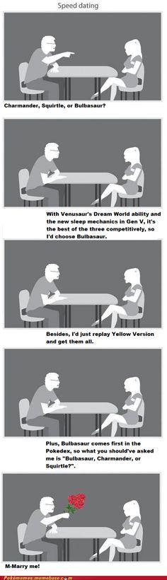 Speed Dating. Bahahahaha. so much better than the original comic.