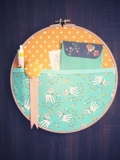 // Embroidery Hoop Pocket - love material shopping