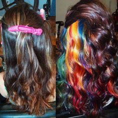 The Next Big Trends From Instagram : Hidden Rainbow Hair