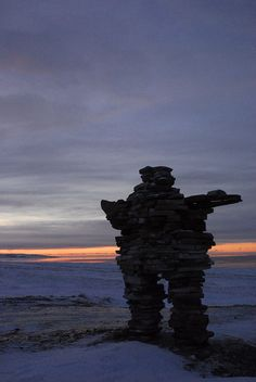 Inuksuk - These carefully balanced stone formations built by the Inuit became a symbolic memorial to my dear companion Anthony during my Arctic walkabout 20 years ago. Quebec, Montreal, Great Whale, Northern Canada, Canada Holiday, Walkabout, Biomes, Lawn Care, Prehistoric