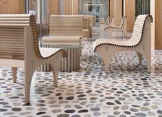 Cardboard tubes - furniture by Shigeru Ban - TA Media - love it! Shigeru Ban, Cardboard Tubes, Lightning, Furniture, Lightning Storms, Home Furnishings, Lighting, Arredamento