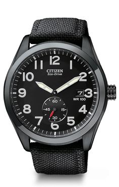 Citizen Mens Eco-Drive Canvas Strap Sport - First Class Watches™ 8267856c60fa