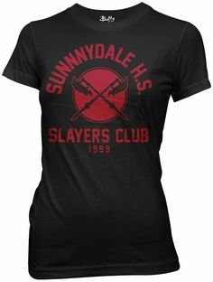 Buffy the Vampire Slayer Sunnydale HS Slayer's Club Womens T-Shirt (Small)