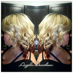 Beigey blonde with a dark red shadowbox for Mrs Tullar! Working on getting that hair back healthy and long! #Angeladoeshair #shampoodollssalon #oregonstylist #eugenestylist #cottagegrovestylist #olaplex #pravana #redkenflashlift #pnw #blõndesdoitbetter #beigeblonde #highlights #shadowbox #highlift