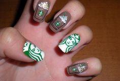 Starbucks nails.