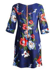 LULA Womens Dress Navy Bouquet, Floral Tops, Dresses, Women, Fashion, Vestidos, Moda, Women's, La Mode