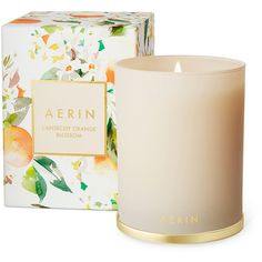 Aerin     L'Ansecoy Orange Blossom Scented Candle found on Polyvore featuring home, home decor, candles & candleholders, ivory, orange blossom candle, fragrance candles, ivory candles, orange blossom scented candles and glass candle