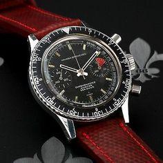 Nivada-Grenchen Chronomaster Aviator Sea Diver Chronograph Watch Valjoux Cal. 23