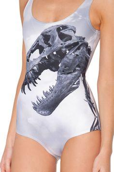 f9e3dc63798e2 Dinoskull Swimsuit Black Swimsuit