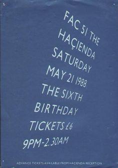 Fac 51 The Hacienda Sixth birthday poster