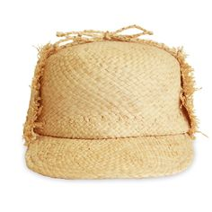 Lola Hats Summer Trapper (4.543.400 VND) ❤ liked on Polyvore featuring accessories, hats, neutral, brimmed hat, trapper hat, summer hats, raffia hat and knot hat