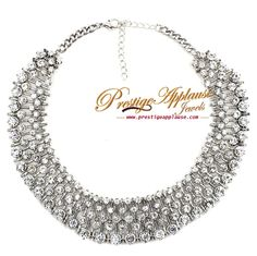 Crystal Necklace #diamante #necklaceoftheday #prestugeapplause #crystal #bespoke #fashion http://www.prestigeapplause.com