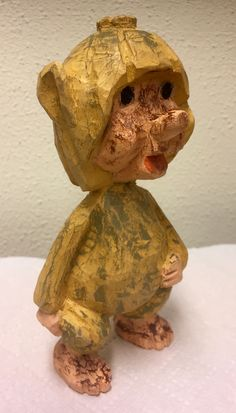 Woodcarving character troll