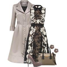 """ERDEM Kali lace collar dress"" by arjanadesign on Polyvore"