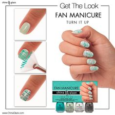 China Glaze Fan Manicure - Turn It Up | chinaglazeofficial Instagram photo