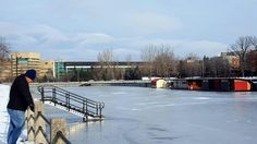 The frozen Rideau Canal. Ottawa Ca