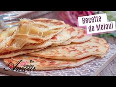 recette de meloui facile, ou msemen feuilleté - YouTube Moroccan Bread, Frittata, Ramadan, Biscotti, Pains, Food And Drink, Flat Bread, Ethnic Recipes, Desserts