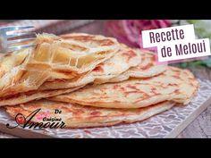 recette de meloui facile, ou msemen feuilleté - YouTube Moroccan Bread, Frittata, Biscotti, Pains, Food And Drink, Cooking, Flat Bread, Ethnic Recipes, Desserts