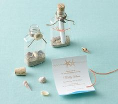 The Invitation | Throw a party for the bride-to-be with a seaside inspired twist.