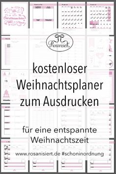 Der Rosanisiert-Weihnachtplaner - kostenloses Printable - Rosanisiert - The Best Holidays and Events Trends and Ideas Christmas Planner Free, Christmas Mail, Christmas Countdown, Little Christmas, Christmas Printables, Xmas, Printable Planner, Free Printables, Art Hama