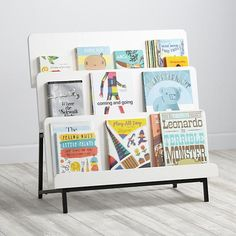 New Issue Modern Bookcase (White/Black Base) | The Land of Nod