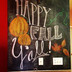 Happy Fall Y'all Chalk Wall Art