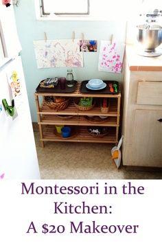Montessori snack station