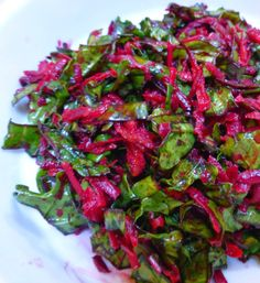 Raw beet and kale salad
