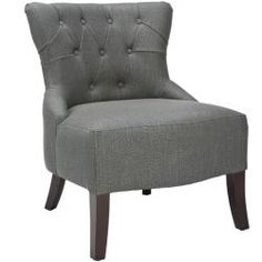 @Overstock - Richly crafted from a lovely graphite linen and fitted with sturdy birchwood legs, the Rouen chair has a great transitional look that is sure to add style to any living space.http://www.overstock.com/Home-Garden/Rouen-Graphite-Linen-Chair/6387503/product.html?CID=214117 $294.29