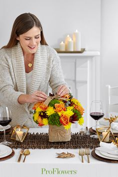 Add a rustic element like burlap for an interesting twist on classic fall flowers. Order Flowers, Send Flowers, Fall Flowers, Fresh Flowers, Online Flower Delivery, Floral Arrangements, Burlap, Thankful, Rustic