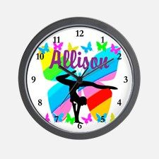 PERSONALIZE GYMNAST Wall Clock Personalized Gymnastics bags and tote to motivate your fabulous Gymnast. http://www.cafepress.com/sportsstar/10114301 #Gymnastics #Gymnast #WomensGymnastics #Gymnastgift #Lovegymnastics #PersonalizedGymnast
