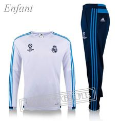 Promo:Nouveau Survetement Real Madrid Enfant Ligue Des Champions Blanc 2016 2017 | Foot769Fr