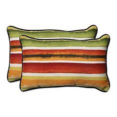 Pillow Perfect OutdoorIndoor Dina Noir Rectangular Throw Pillow Set of 2 * Click the image to visit the Amazon website