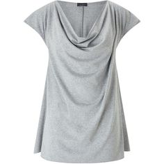 James Lakeland Cowl Neck T-shirt ($40) ❤ liked on Polyvore featuring tops, t-shirts, sale women tops, rayon tops, relaxed fit t shirt, jersey top, cowl neck t shirt and cowl neck short sleeve tops