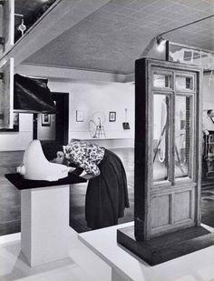 Julian Wasser - Woman with her head in Fountain. Marcel Duchamp Retrospective, Pasadena Art Museum, 1963