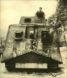 The A7V was a tank introduced by Germany in 1918, during World War I. One hundred chassis were ordered in early 1918, ten to be finished as fighting vehicles with armoured bodies and the remainder as cargo carriers.